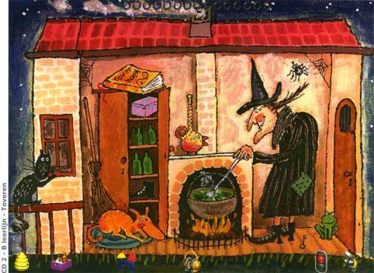 Voorbeeld praatplaat heksen